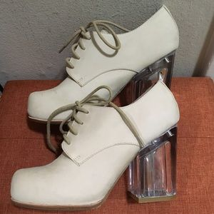 Glam Jeffrey Campbell acrylic heels! Fabulous!